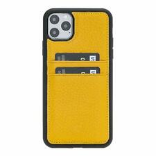 iPhone 11 Pro Max Case Card Slots Slim Lightweight Handcrafted Leather Yellow