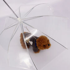 Clear Pet Dog Umbrella PE Plastics Small Dog Umbrella Rain Gear Dog Leads