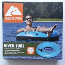 New listing Ozark Trail Inflatable River Tube Single Rider Blue new donut pool, lake float