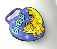 Vintage Garfield Lunch Box Heart Shaped Metal / Tin Box with latch