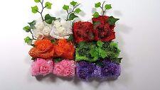 Wholesale 24 pcs Crochet Headband  Acrylic With Flowers.