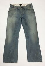 Diesel pyotr jeans uomo usato denim W31 tg 45 gamba dritta boyfriend blu T3863