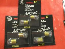 67- GE-12 VOLT-CLEAR  BULB- LICENSE,MARKER -- LOT OF 6 -==  MADE IN USA==