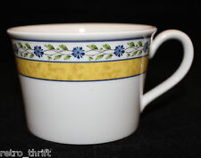 Wedgwood Mistral Bone China Coffee Tea Mug Cup Blue Flowers Yellow Green Leaves