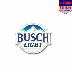 Busch Light 4 Stickers 4X4 Inch Sticker Decal