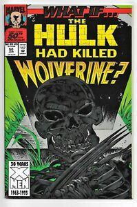 What if? Vol2 #50 Marvel Comics 1993 VF+ Hulk vs Wolverine
