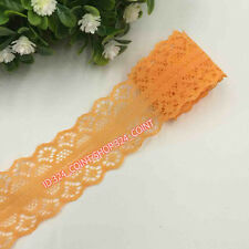 HB95 12 Yards Beautiful Handicrafts Embroidered Net Lace Trim Ribbon Wholesale