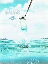 PUBLICITE ADVERTISING 016  2003   Hermès  parfum Jardin en Méditerranée