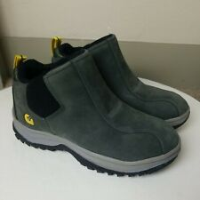 Gravis Cirque Women 8.5 Grey Suede Hiking Sneaker High Top Shoes Leather Slip On