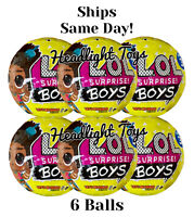 In Hand 6 Authentic LOL Surprise BOYS Series 3 Dolls Balls Big Brother In Hand