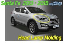 Head Lamp Garnish Chrome Molding Trim Cover for Hyundai Santa Fe 2013 ~ 2016