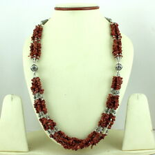 NATURAL SUNSTONE CHIPS GEMSTONE BEADED BEAUTIFULNECKLACE 72 GRAMS