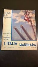 L'ITALIA MARINARA - DICEMBRE 1935 - MARINA SVIZZERA, PINOCCHIO, FANTASMI