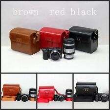 Black /Red leather case bag for Fujifilm Polaroid Instax Mini 8 90 50 7S Camera