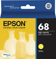 GENUINE Epson 68 T0684 Yellow Ink for WorkForce 610 615 600 1100 315 500 30 310