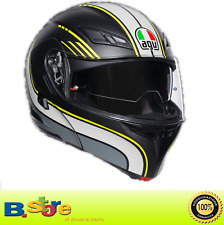 CASCO MOTO AGV MODULARE COMPACT BOSTON BLACK GREY YELLOW  TAGLIA L