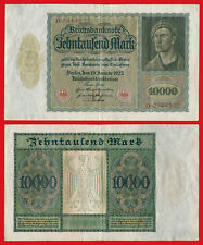 ALEMANIA GERMANY 10000 Marcos Mark 1922 Pick 70  MBC /  VF