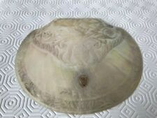 An antique Victorian large Mother of Pearl shell with cartouche