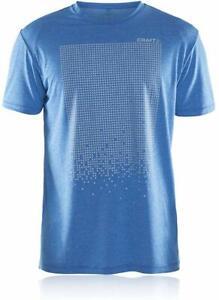 Craft Mens Mind Short Sleeve Reflective T-Shirt - Blue