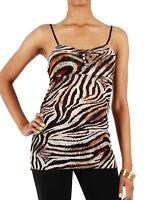 Brown Zebra Print Tank Top