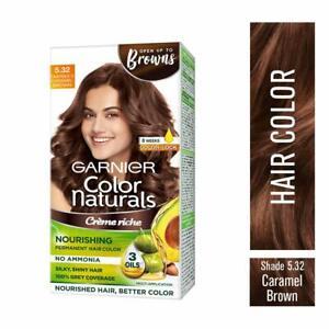 Garnier Color Naturals Creame Hair Caramel Brown Shade 70ml + 60gm