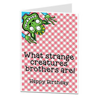 Funny Silly Birthday Card For Brother Perfect For Little Younger