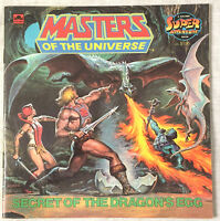 1985 Masters of the Universe Secret of the Dragon's Egg He-Man Children's Book