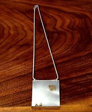 Stunning Americn Sterling Silver & 14K Gold Necklace : Nude Male on Ledge