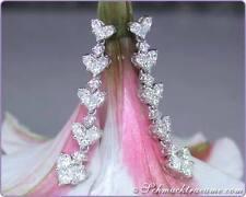 Echter Diamanten-Ohrschmuck aus Weißgold mit Prinzess