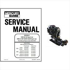 Mercury 90 120 95XR 120XR Sport Jet Outboard Service Repair Manual CD  95 120 XR