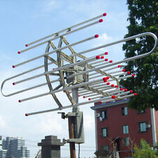 Outdoor Amplified Antenna 360° 32dB Rotor Digital HD TV UHF/VHF/FM HQ