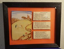 1934 Framed WILLY POGANY Book Plate Art Print PRINCE TATTERS w Poem