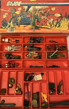 New listing G.I. Joe Collectors Case 1984 With Figurines/ Parts/damaged