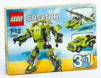 Lego 31007 Creator  3 in 1 Power Mech Helicopter Truck Robot