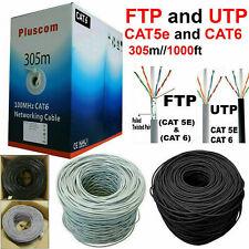 305M RJ45 Cat6 Cat5e FTP UTP OUTDOOR Network Ethernet Roll Reel Cable Modem LOT
