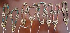Gemstone and flower connector beaded Gold Plated Bracelet - Manmade Beads