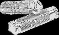 Accutronix Chrome Knurned Hand Grips 82-16 Harley Dyna Touring Softail XL