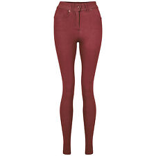 NEW LADIES SKINNY FIT COLOURED STRETCHY JEANS WOMENS JEGGINGS TROUSERS SIZE 8-20