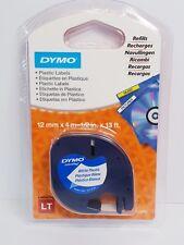 Dymo Letratag Label Black on Clear 12mmx4m - DMSD12267
