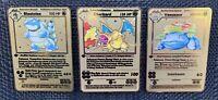 Charizard Blastoise Venusaur Gold Pokemon Card Trio Base Set 1st Edition#2/4/15