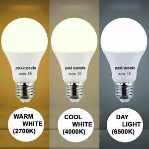 Warm White Cool White Daylight 5W/7W/12W LED 40/60W/100W GLS B22/E27 Cheap Bulbs