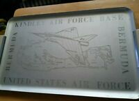kindley air force base commemorative serving aluminum tray