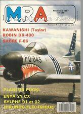 MRA N°576 ENYA 21 CX / SYLPHE 01 ET 02 / SABRE F-86 PR 10 CM3 / AILE POLYSTYRENE