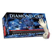 Microflex MF-300L Diamond Grip Powder Free Latex Gloves - Large, 10 Boxes