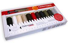 Gutermann Creative Sew todos Hilo De Coser Kit 11 X 100m Rieles esencial Colores