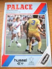 10/10/1984 Crystal Palace v Sunderland [Football League Cup] (Creased, Team Chan