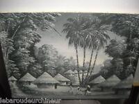 ancienne huile sur toile paysage africain signé 1