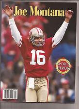 1995 Beckett Sports Heroes Joe Montana Book San Francisco 49ers