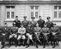 General Dwight Eisenhower George Patton World War 2 WWII 11 x14 Photo Picture