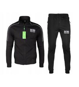 Hugo Boss Men's Athletic Sport TrackSuit Hooded Sweatshirt PANTS L,XL